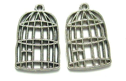 Lot de 2 cages 26mm argenté