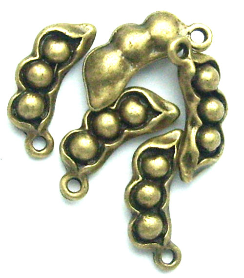 Lot de 5 petits pois 16mm bronze