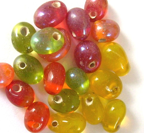 20 perles gouttes 8mm mix fruité
