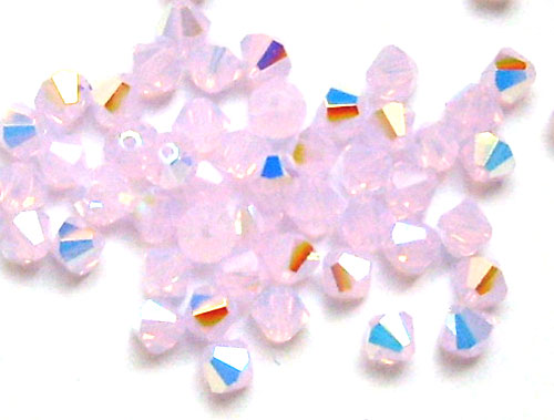 40 toupies cristal swarovski 4mm rose water opal ab